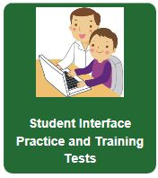 Icon that says Student Interface Practice and Training Tests